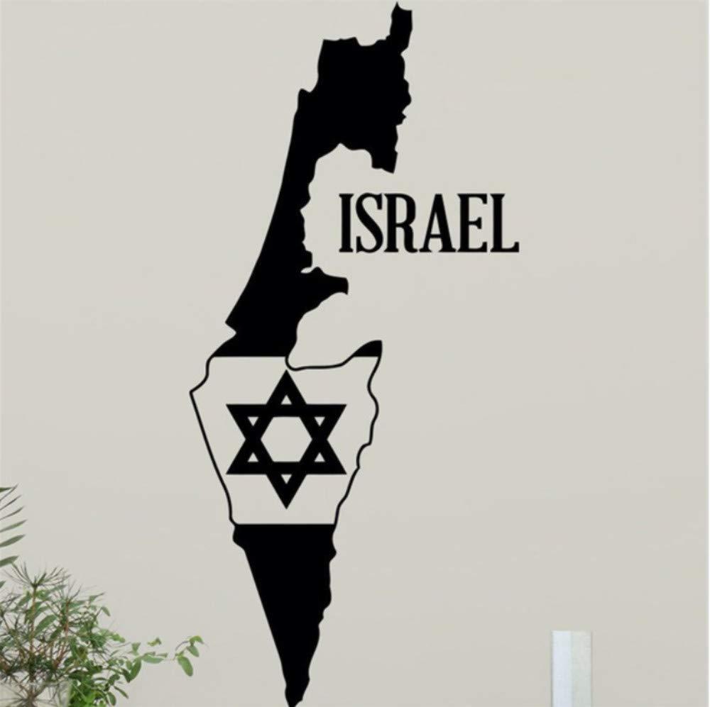 Pbbzl Israel Mapa Estrella De David Tatuajes De Pared Estrella ...