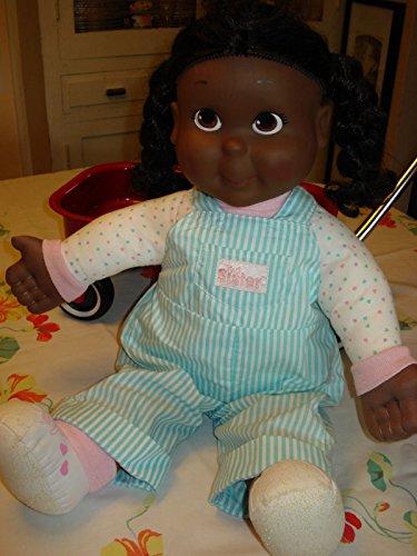 VTG 1980s Playskool My Buddy Kid Sister Doll African American Black 21 Approx