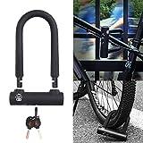 NACOLA U Shaped Steel Lock Motorcycle Mountain Bike Security Lock with 3 Keys 12 tons hydraulic bearing glass door Bike Safety Lock