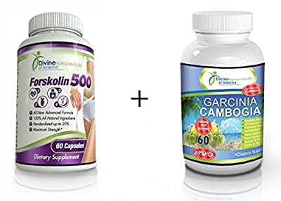 Garcinia Cambogia + Forskolin 80%HCA Extract 1500mg Appetite Suppressant All-Natural Ingredients Advanced Weight Management Formula