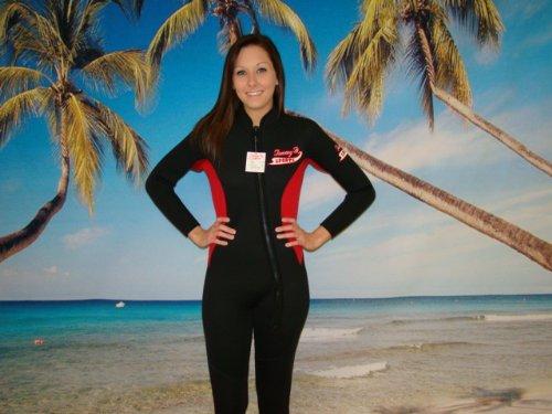TommyD Sports Women's Wetsuit, Full Length, Front Zipper,...