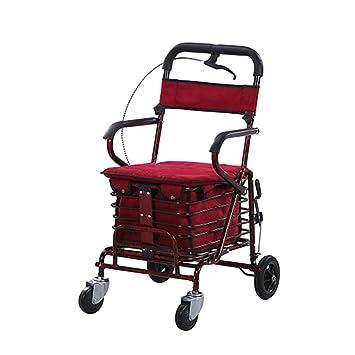Desconocido Old Man Carrito de la Compra Scooter El ayudante Puede Sentarse Puede Empujar el Carro
