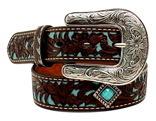 Diamond Concho Belt (Ariat Girls' Turq Tooled Concho Belt Brown)