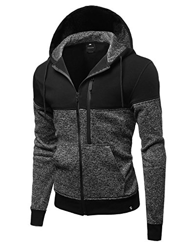 Fine Quality Plush Fleece Lined Zip up Hoodie - Mens Zip Up Lined Hoodie