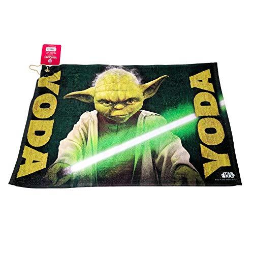 Star Wars Green Yoda Golf Terry Towel with Corner Hanging Grommet Corner Grommet Sport Towel