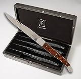 Fortessa Provencal Non Serrated Dark Wood Steak Knife 4 Pc.