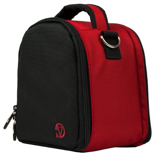 VanGoddy Laurel Fire Red Carrying Case Bag for Leica SL-Syst