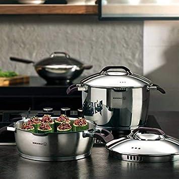 Korkmaz Esta A1050 - Batería de cocina (9 piezas, apta para inducción, acero