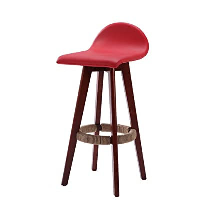 Amazon.com: AIDELAI Bar Stool High Stool Dining Chair- Solid ...