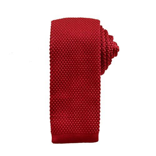 Preppy 80s Costume (HDE Skinny Knit Vintage Tie Men's Smart Casual Mult-Color 2