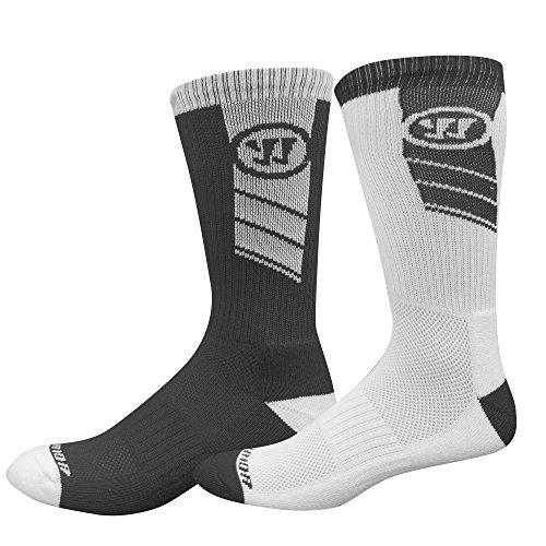 Warrior Unisex 2 Pair Home and Away Crew Socks,Medium,White/Black