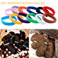 Floranea 12 Pcs Puppy Whelping Collars Multicolor Adjustable Double Sided Reusable Comfortable Soft Fabric ID Bands for Small Dogs Pet Cat Newborn Kittens Litter