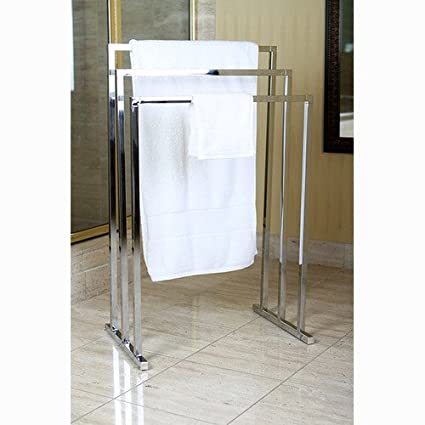 Amazoncom Brass Edenscape Free Standing Towel Rack Polished