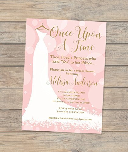 Amazon once upon a time bridal shower invitations fairytale once upon a time bridal shower invitations fairytale dress invitations wedding dress bridal shower filmwisefo