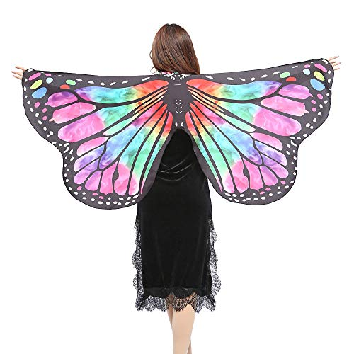 VEFSU Women Party Butterfly Wings Shawl Scarves Ladies Nymph Pixie Poncho Costume Accessory (Green) ()