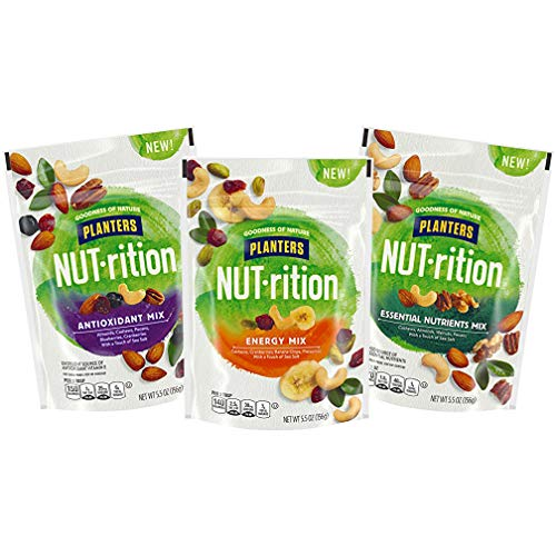 NUT-rition Trail Mix Variety Pack (Energy Mix, Antioxidant Mix, Essential Nutrients Mix), Pack of 3 ()