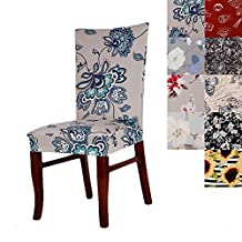 Super Fit Universal Stretch Dining Chair Covers, Removable Washable Slipcovers for Dining Room Chairs (1, A)