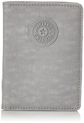 Wallet Travel Crinkle Nylon (Kipling PASS PORT Passport Wallet, 14 cm, 0.01 liters, Grey (Clouded Sky))