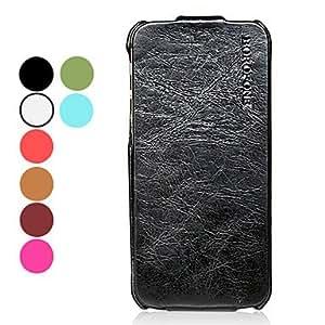 compra Papel de cera color sólido tirón arriba y abajo diseño de casos de todo el cuerpo para el iphone 5/5s (colores surtidos) , Negro