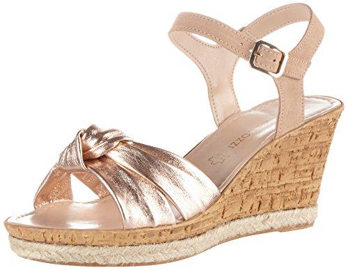 Pink Heels Comb 596 Rose Wedge WoMen MARCO TOZZI premio 28372 Sandals w10qxafpn