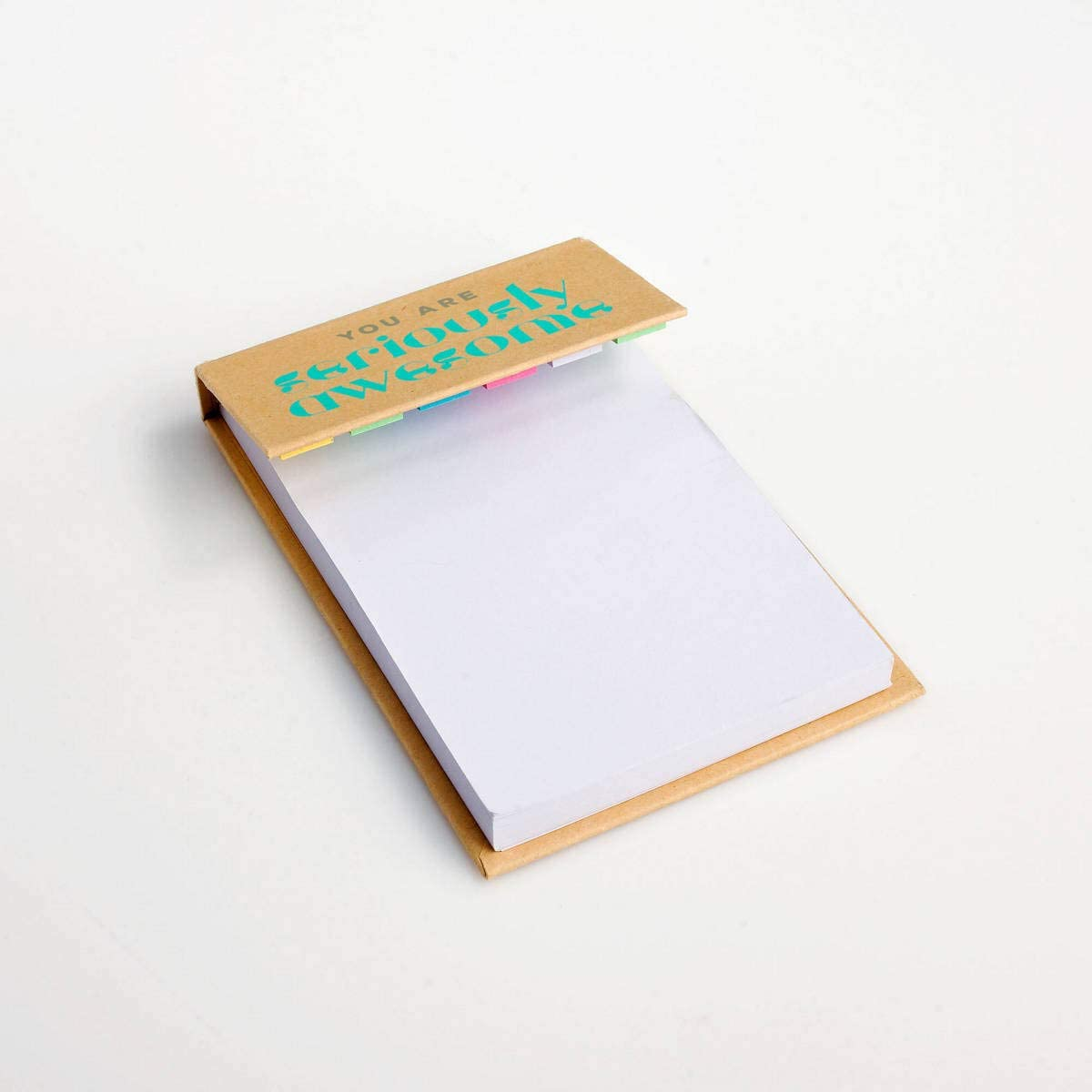 5 Pack of Sticky Note Pads and Colorful Sticky Tabs for Employees//Staff Appreciation//Recognition Gifts//Awards 100 Sheet Pad of White Sticky Notes with 6 Colors of Sticky Tabs