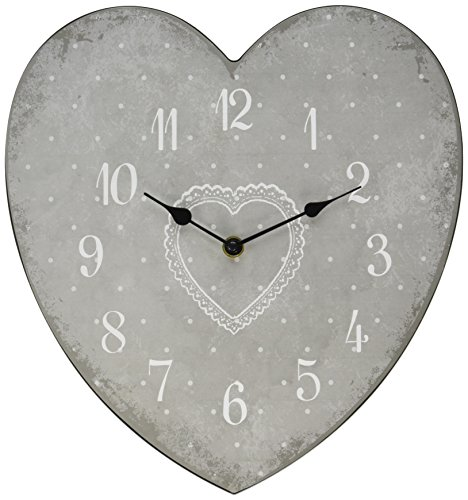 Kole OD965 Clock Heart Shape Wall Clock (Man Tin Wizard Heart Of Oz)