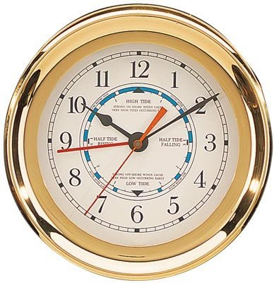 Brass Captain Tide & Time Clock by HS
