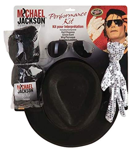 Cheap Michael Jackson Costumes (Michael Jackson Costume Accessory Kit with Wig, Hat, Glove and)