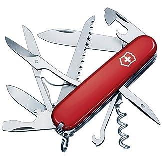 Victorinox Taschenmesser Huntsman (15 Funktionen, Schere, Holzsäge, Schraubendreher) rot 1