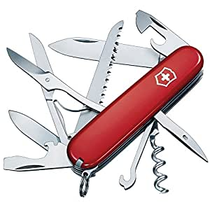 Victorinox Huntsman, Navaja Multiusos, 15 Usos, Rojo