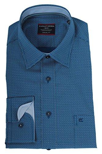 CASA MODA Freizeithemd langarm blau bedruckt