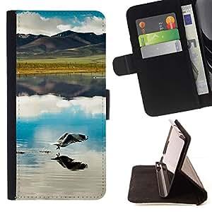 """Naturaleza Hermosa Forrest Verde 53"""" Colorida Impresión Funda Cuero Monedero Caja Bolsa Cubierta Caja Piel Id Credit Card Slots Para HTC Desire 820"""