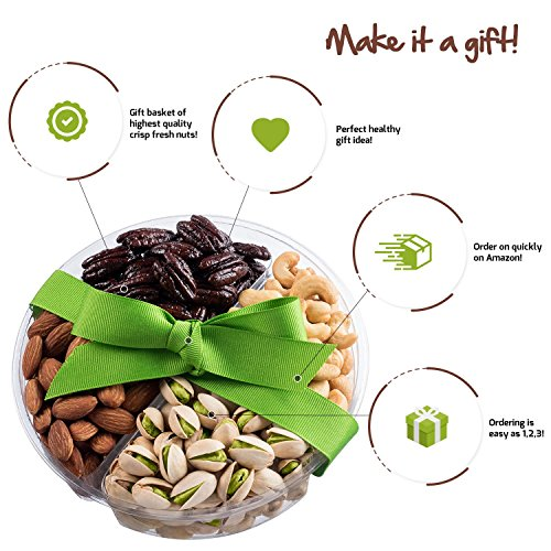 Mother's Day Nuts Gift Basket | Medium 4-Sectional Delicious Variety Mixed Nuts Prime Gift | Healthy Fresh Gift Idea For Christmas, Thanksgiving, Mothers & Fathers Day, And Birthday by Nut Cravings (Image #2)