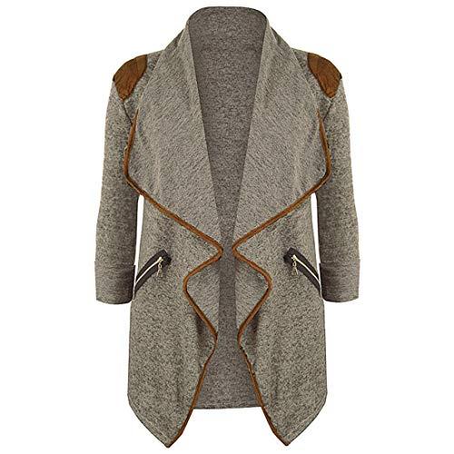 La DEELIN Automne Dcontract Solide Tops Femmes Quotidien Outwear Kaki Manteau Manches Longues Cardigan Mode Longue Veste Taille Tricot Plus De ggTwrdq