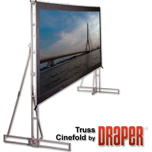 Truss Style Cinefold Cineflex Portable Projection Screen Viewing Area: 27' H x 6
