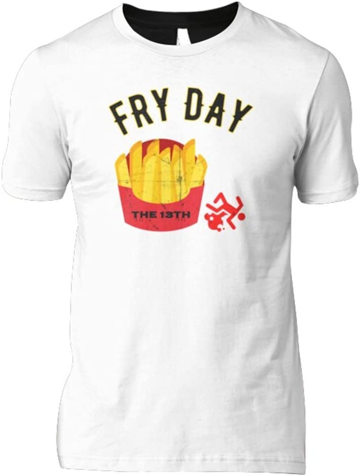 Halloween Fry Day The 13Th T-Shirt Funny Horror Food Pun Novelty Gifts Classic T-Shirt Design Shirts Soft Women Unique Tees S Awesome Cheap Design