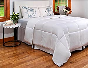 Queen Duvet Insert - All Season Queen Quilted Comforter with Corner Tabs- Duvet Comforter Hypoallergenic, Plush Siliconized Fiberfill - Down Alternative Comforter - Machine Washable