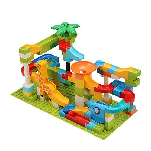 - bromrefulgenc Building Blocks Toy Set,143Pcs Children Assemble Building Blocks Jungle Slide Playset Puzzle Intelligence Toy for Toddler