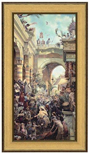 Tom duBois Hosanna Signed & Numbered Limited Edition CANVAS Framed Christian Jesus rides into Jerusalem on Donkey