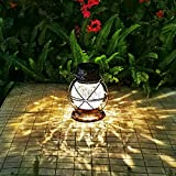 Solar Lantern Outdoor Hanging Lights, Metal