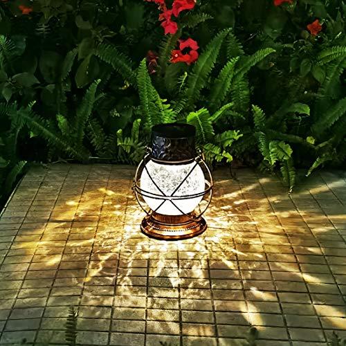 Solar Lantern Outdoor Hanging Lights, Metal