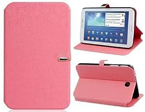 Faux Flip funda de cuero con cierre magn é tico para Samsung Galaxy Tab P3200 (rosa)