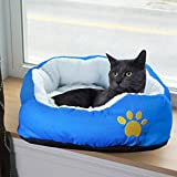 Evelots Small Round Pet Bed, One Size, Blue