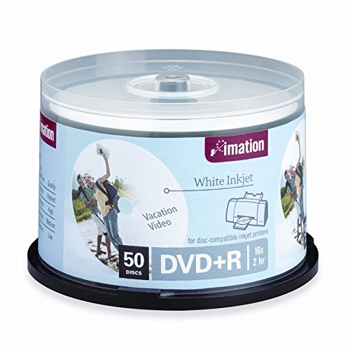 Imation 17353 DVD+R 50 Pack Spindle 4.7 GB 16x Printed Overwrap