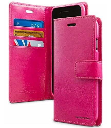 iPhone 7 Plus Hülle, [BLUEMOON DIARY] VENTER® [Wallet Hülle] glatte Kunstleder -Textur [ID-Karte und Bargeld Slot] I / Standplatzabdeckung für iPhone 7 Plus