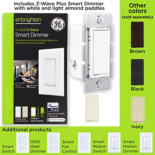 Z-Wave | GE Z-Wave Plus Smart Lighting Smart Dimmer Switch on