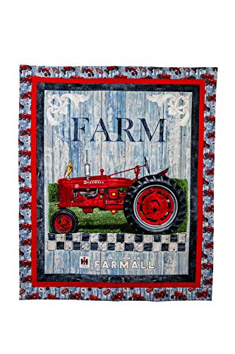 Farmall H Tractor Baby Quilt or Wall Hanging
