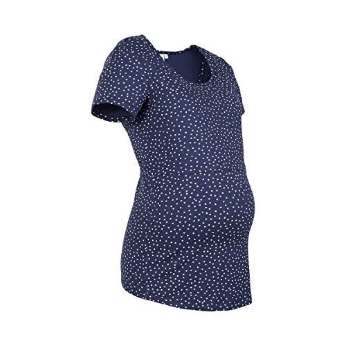 Dark 2hearts Black Blue lactancia Iris Camiseta Aop para y embarazo CqxwRp1