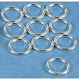 10 Jump Rings Closed Sterling Silver Jewelry 18 Ga 8mm