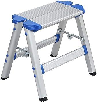 BBG Escalera de Aluminio, Taburete Plegable para el Hogar/Escalera/Taburete de Pesca de Bosquejo Creativo Portátil de Doble Uso Al Aire Libre: Amazon.es: Bricolaje y herramientas